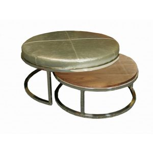 Peachy 81539 Copley Metal Cocktail Ottoman 1 Interior Spaces Design Machost Co Dining Chair Design Ideas Machostcouk
